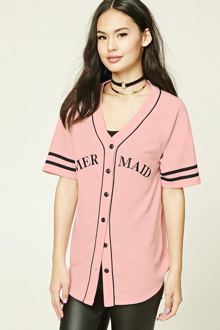 6c0a25bd5eb19 Women's Pink Mermaid Baseball Jersey   Wear   Baseball jerseys ...