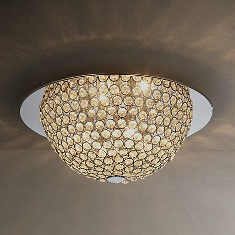 Buy john lewis moon semi flush ceiling light silver clear online at johnlewis