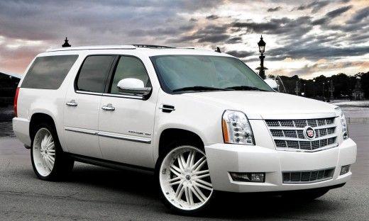 Cadillac Escalade White Suv White Custom Rims Dub