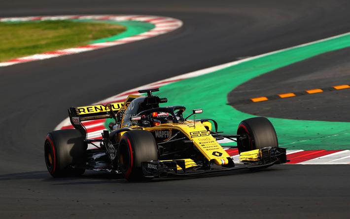 Herunterladen Hintergrundbild Carlos Sainz Renault Rs18 4k Spanisch Rennfahrer Formel 1 F1 Renault Sport Formula One Team Sports Wallpapers Racing Driver Racing