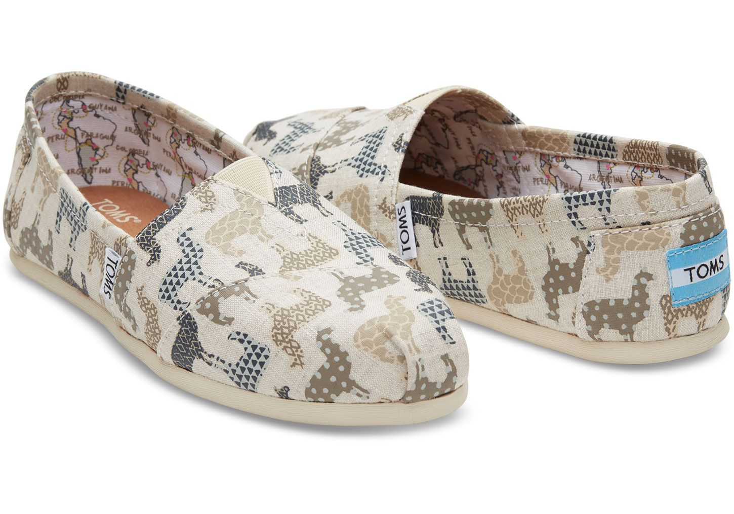 95248fbff13 This TOMS Exclusive Classic Alpargata featuring a llama print is inspired  by Peru