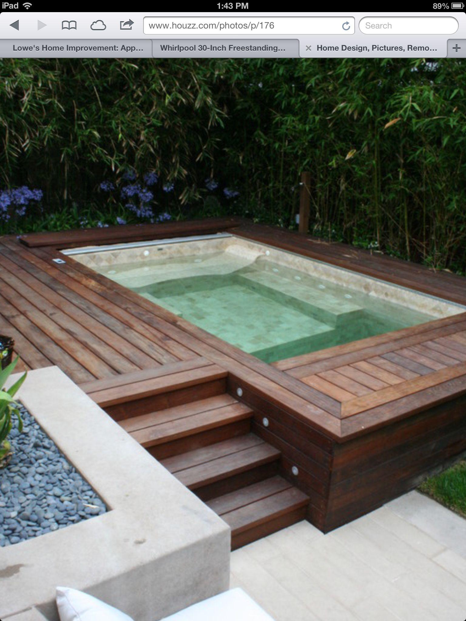 Pileta peque a arq pinterest piscinas peque os y for Pileta jardin pequeno