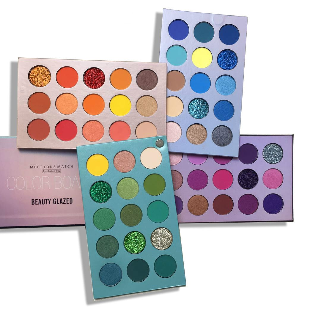 Beauty Glazed 4 In 1 Color Board 60 Color Palette Beauty Glazed Colour Board Shadow Palette