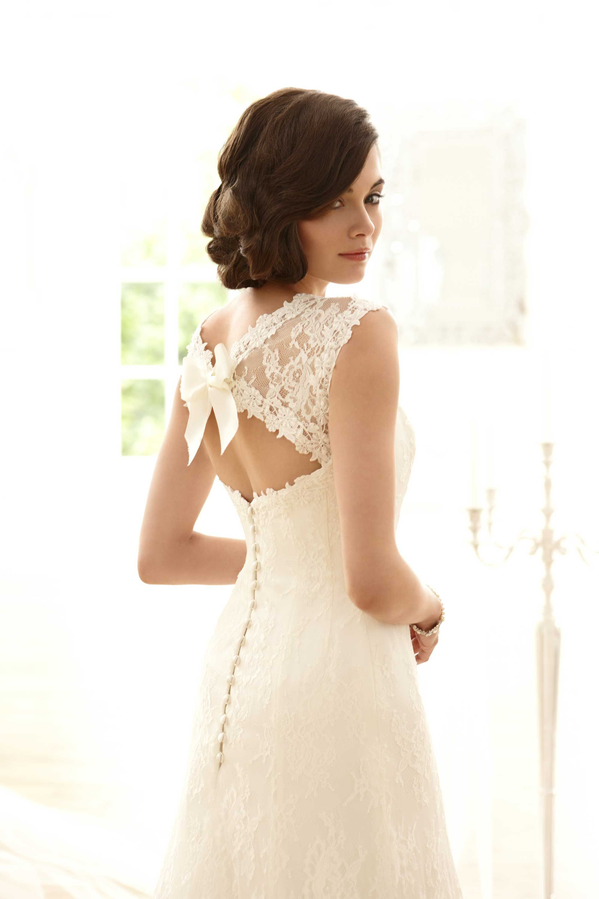 Wedding dress with bow on back  Sassi Holford  Spring Summer Bridal Collection  Wedding Ideas