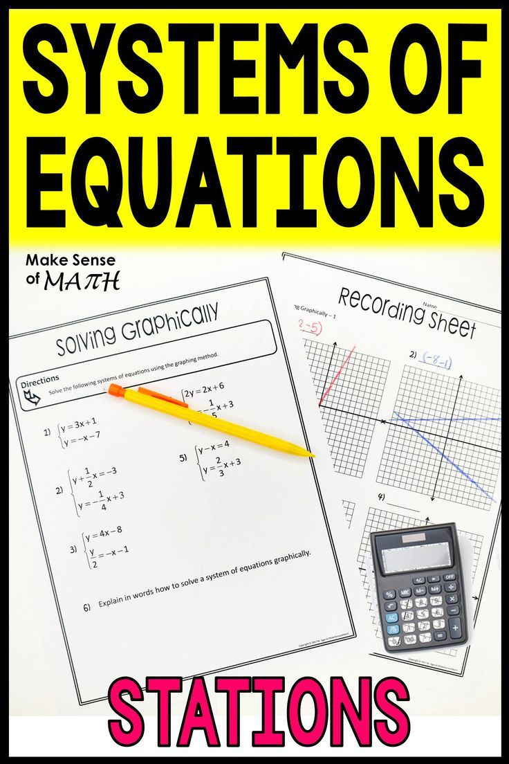 Systems of Equations Stations Systems of equations