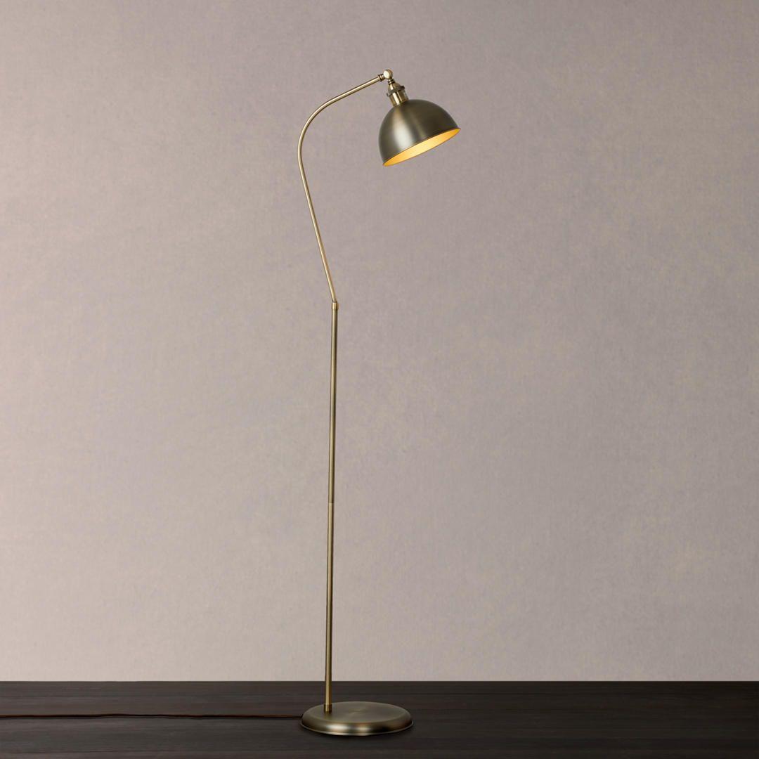 John Lewis Amp Partners Baldwin Floor Lamp Pewter Copper