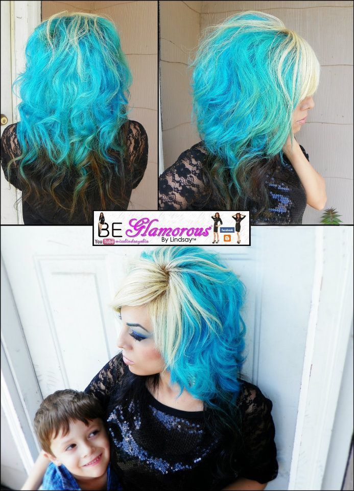 Aqua Rush Splat Hair Dye My At Home Color