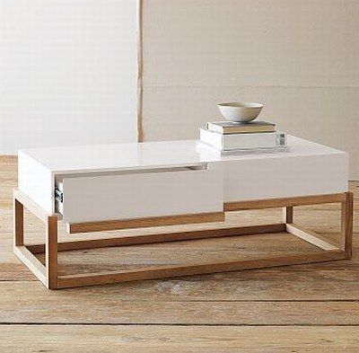 Resultado de imagen para white wooden coffee table