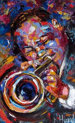 Contemporary Artists Of Texas Clifford Brown Painting Trumpet Art Jazz Paintings Music Fine Art Clifford Brown By Debra Hurd