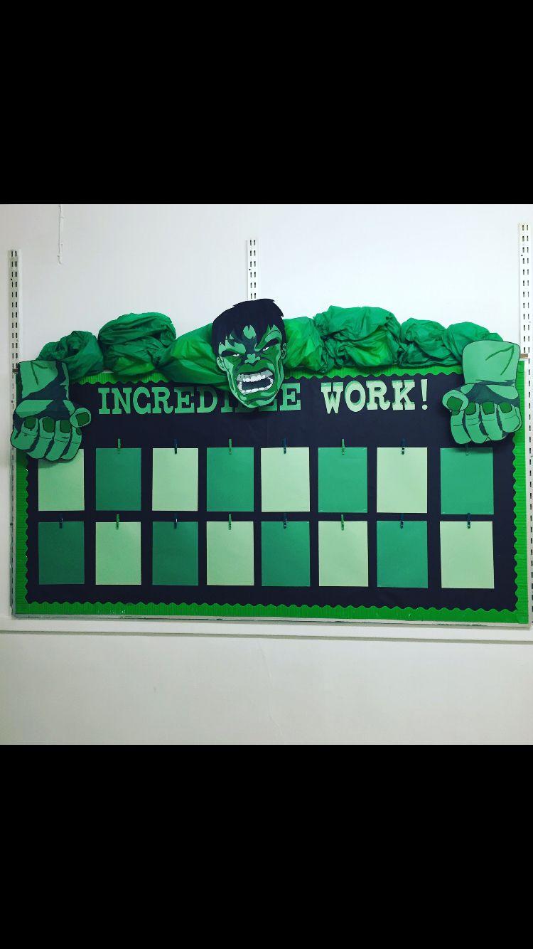 Incredible Hulk Themed Bulletin Board To Display Student
