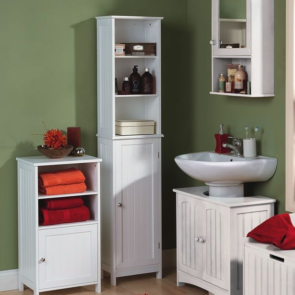 Wilkinson Colonial Tall Cupboard White now 4900Bathroom