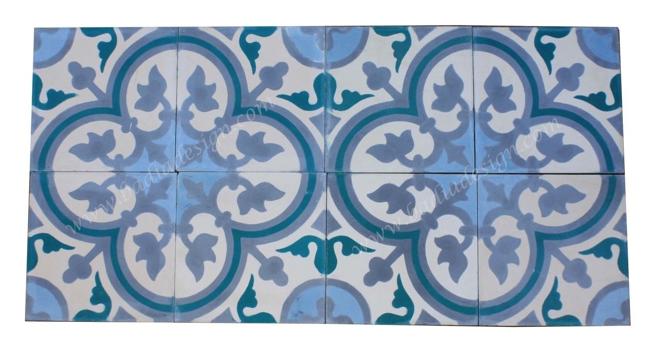 Badia Design Inc Store - Moroccan Hand Painted Square Cement Tile ...