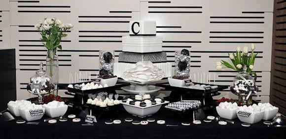 stunning black and white dessert table love whbm feelbeautiful