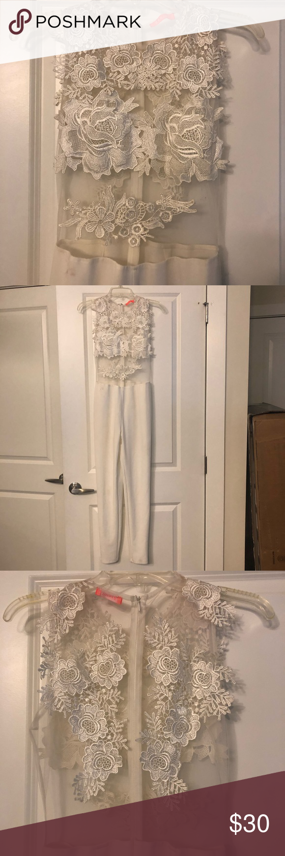 White Lacey Romper/ Jumpsuit Gallery