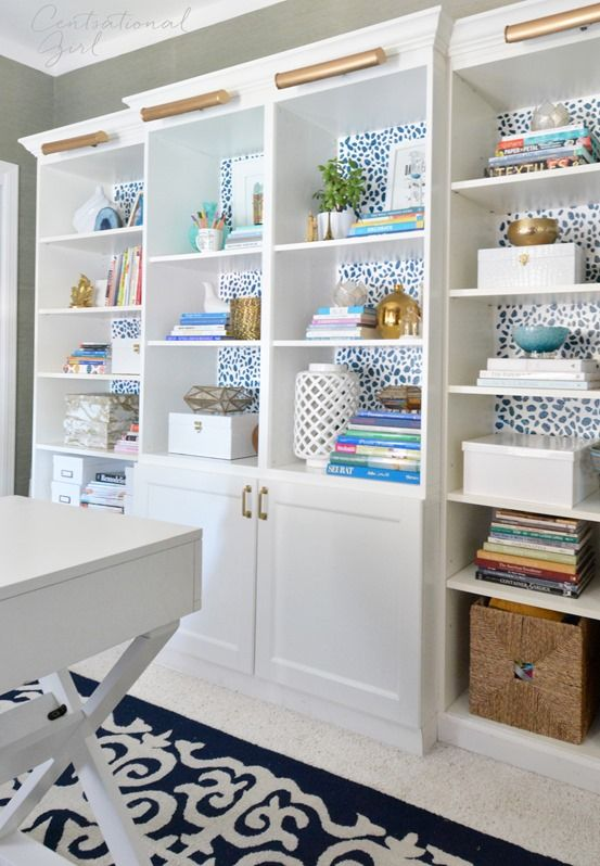 Find This Pin And More On Blogger Home Projects We Love By Bhg. X Base Desk  Besta Billy Bookcases ...