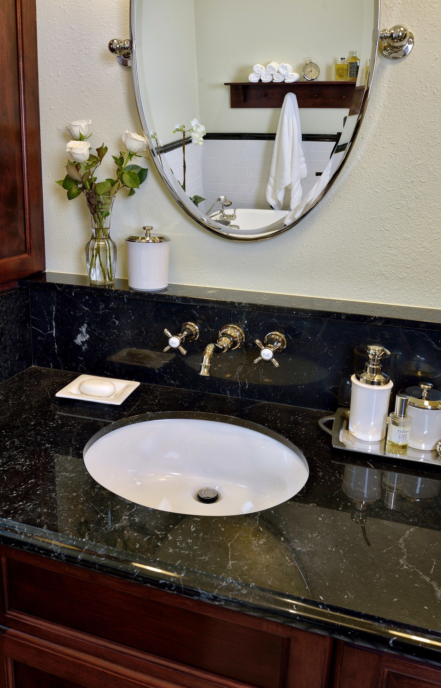 BEFORE u0026 AFTER This Vintage Inspired Master Bathroom