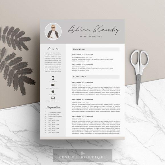 Medical Resume Template | Cover Letter For MS Word | Best CV Design |  Instant Download | Sale | Nurse