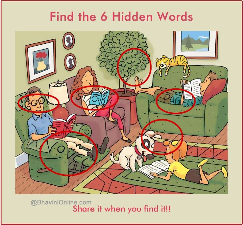 WhatsApp Riddle Find 6 Words Hidden in the Picture 7