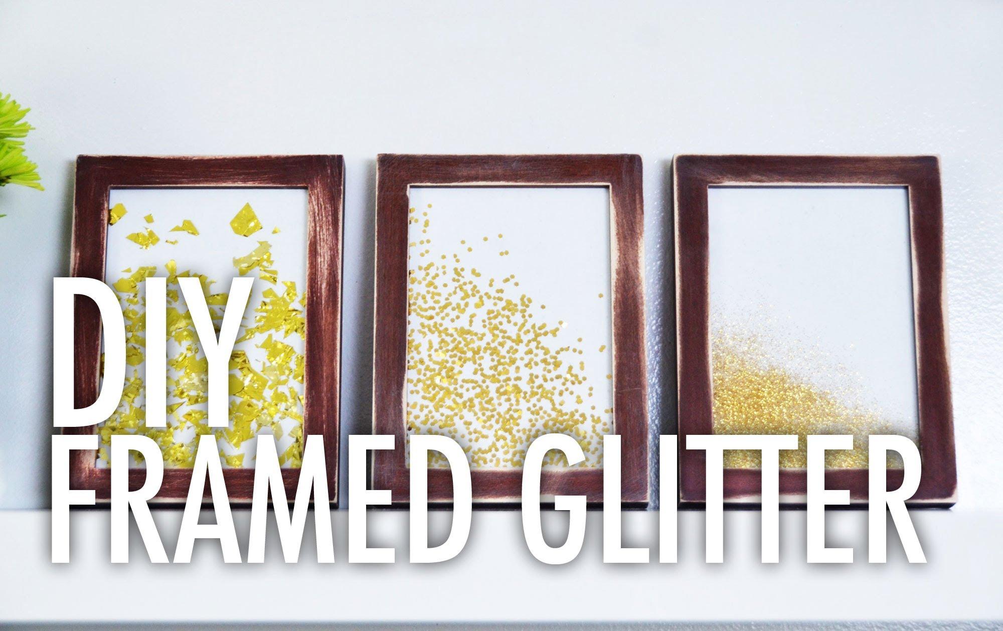 Pareti Glitterate Fai Da Te : Diy framed glitter with mr kate you can make it