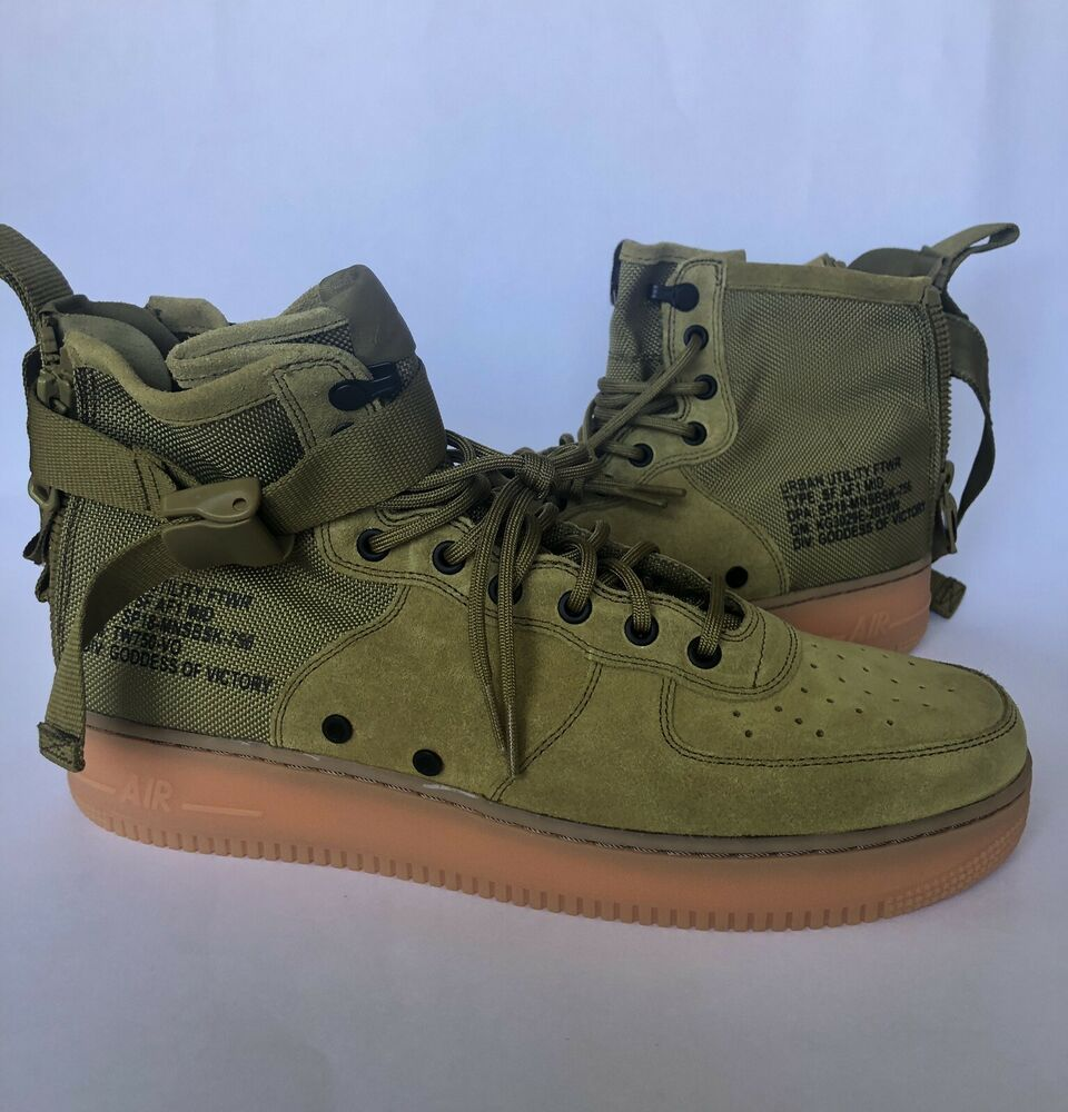 Nike Special Forces Air Force 1 Men's Mid Shoes Desert Moss