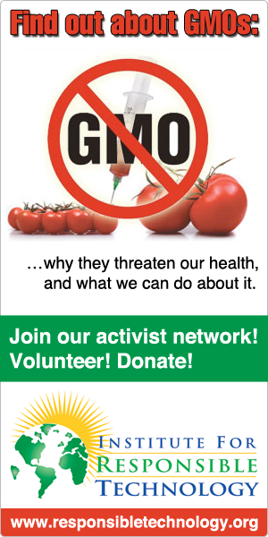 Institute For Responsible Technology Non Gmo Banner Ads And Buttons Banner Ads No Response Technology