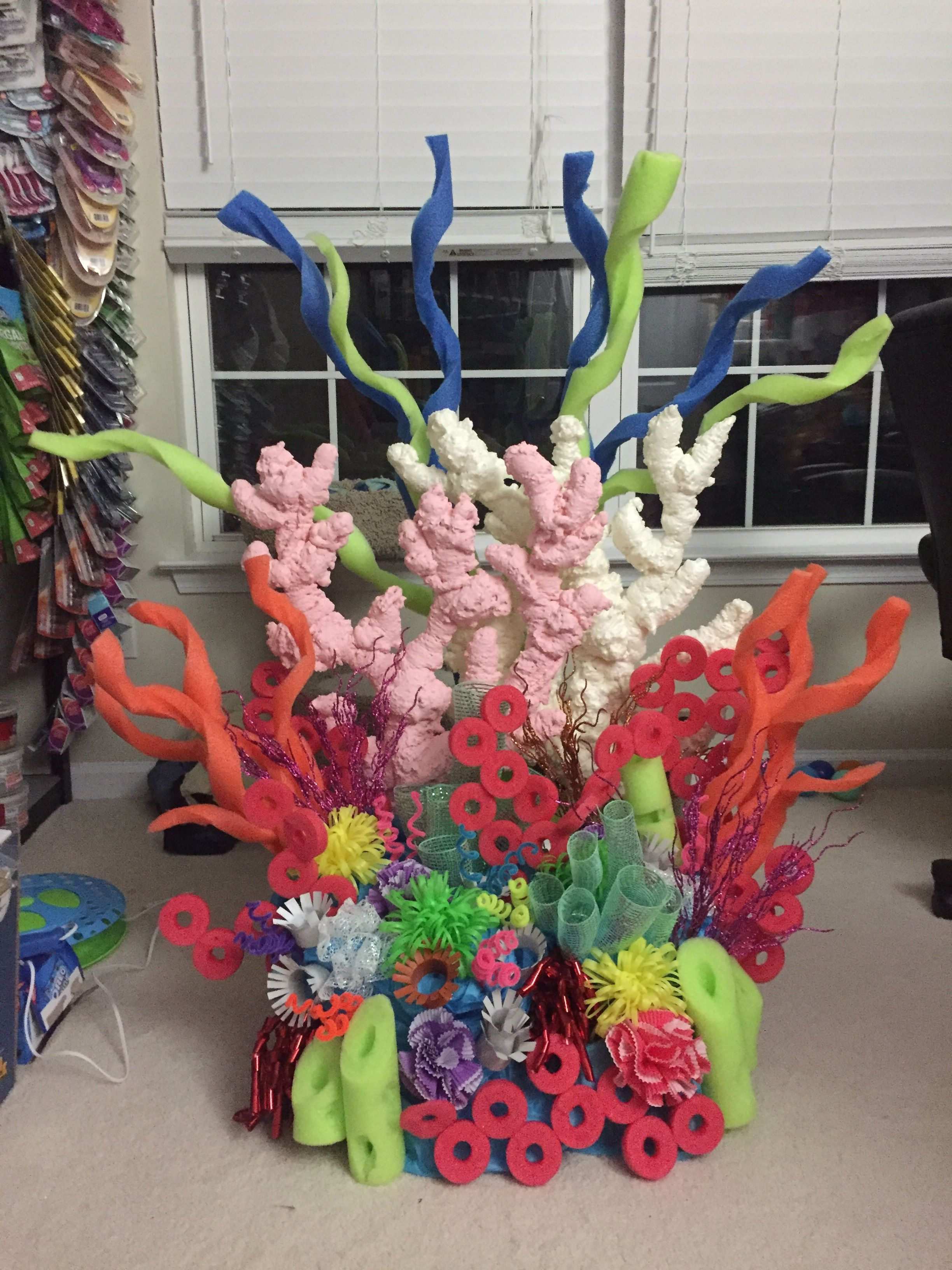 Coral reef for mermaid party sea birthday party under