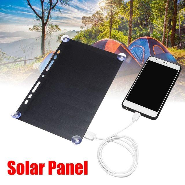5v 10w Portable Solar Power Charging Panel Usb Charger For Mobile Phone Tablet Frame Design For Traveling Camping Ultra Portable Solar Power Solar Solar Power