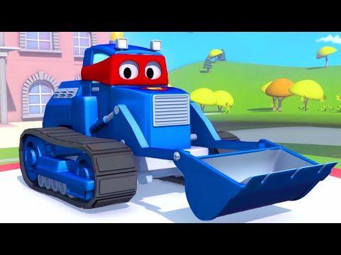Carl The Super Truck And The Bulldozer In Car City Trucks Cartoons