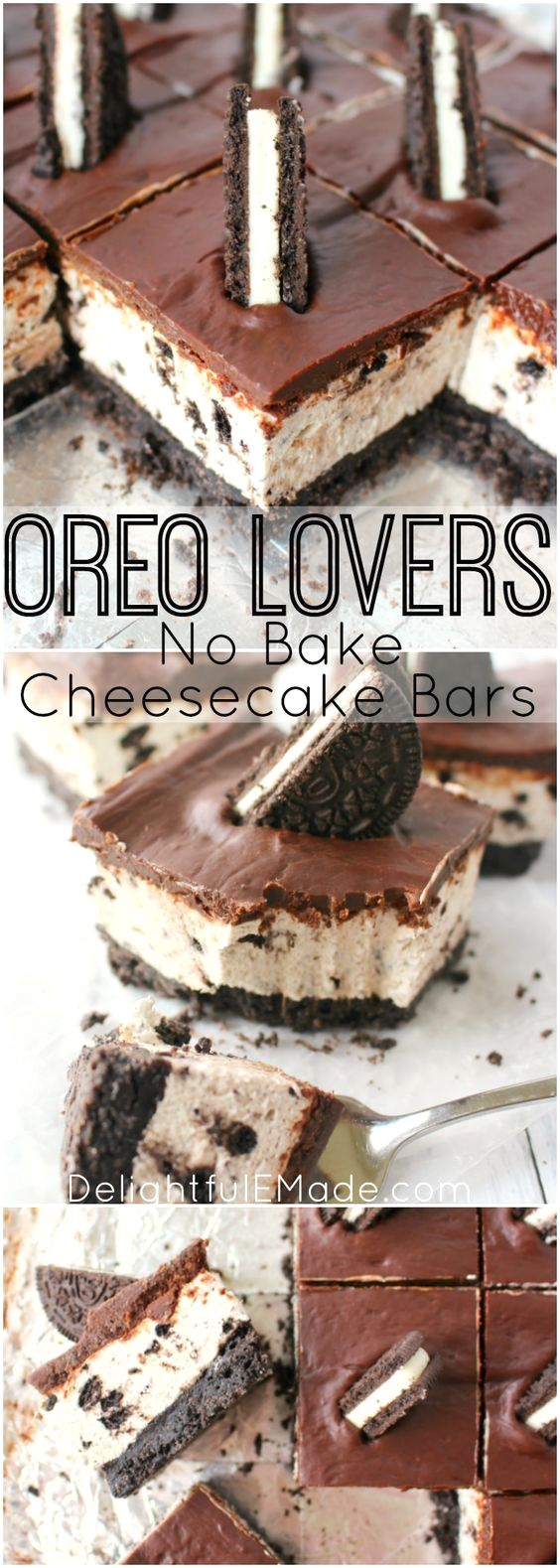 The ultimate dessert for anyone that loves OREO cookies! A thick OREO crust, cre…
