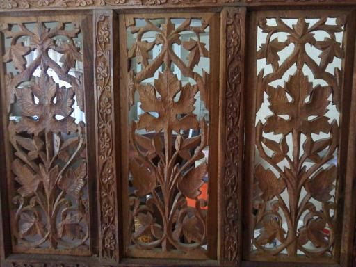 antique hand carved teak wood room divider screenmauvesheep