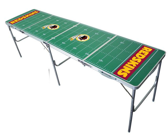 Redskins Table [definitely I'll play beer pong!]