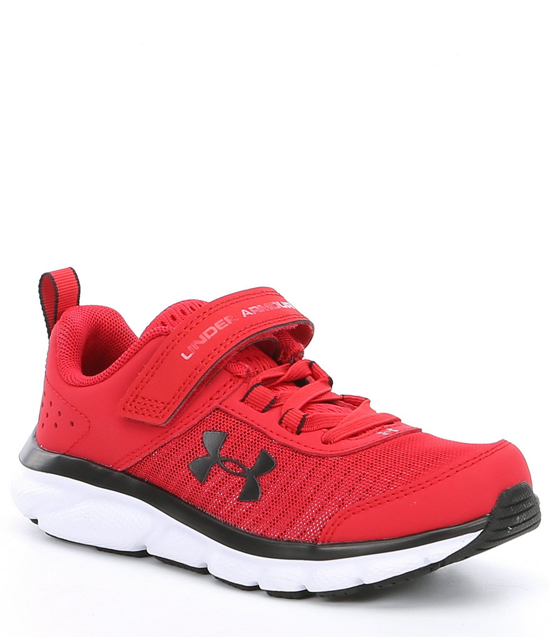 Mens Under Armour Rapid Red Running Shoes Lace Up Mesh Trainers