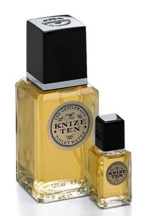 Knize Ten Knize. This extremely masculine fragrance contains notes of leather, tar, citruses and flowers. The top notes are citric and fresh with petit grain, orange, lemon, rosemary and bergamot. The heart is the woody with cedar, patchouli and sandalwood, and floral - spicy with rose, iris, carnation, cinnamon and clove, while the leather base contains castor oil, ambergris, musk and moss.