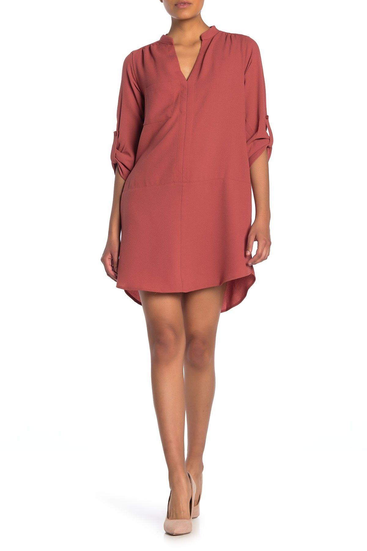 Lush Novak 3 4 Sleeve Shift Dress Hautelook Shift Dress Classic Shirt Dress Nordstrom Dresses [ 1800 x 1200 Pixel ]