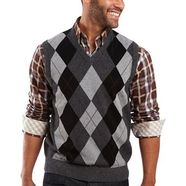 JOE Joseph Abboud® V-Neck Sweater Vest - jcpenney | Men's fashion ...