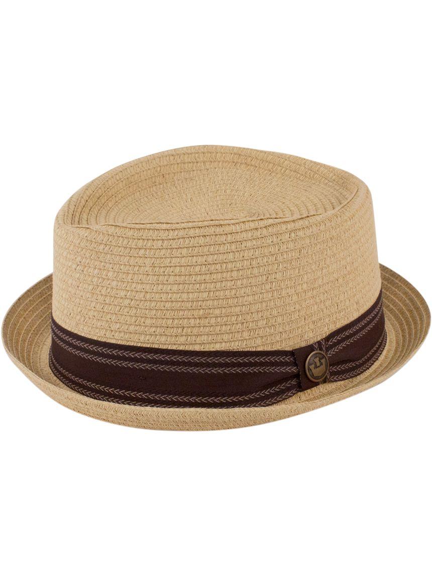 a0071cb13cbad Goorin Habana Tan Straw Pork Pie Fedora Hat
