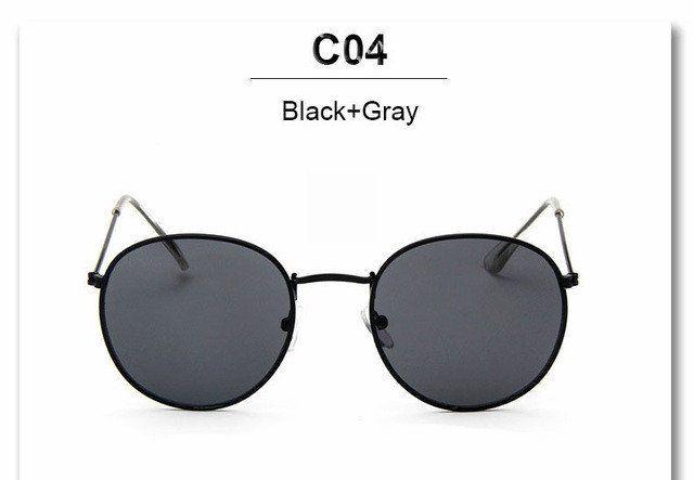 d879ef091a7f8 Vintage Round Mirror Sunglasses