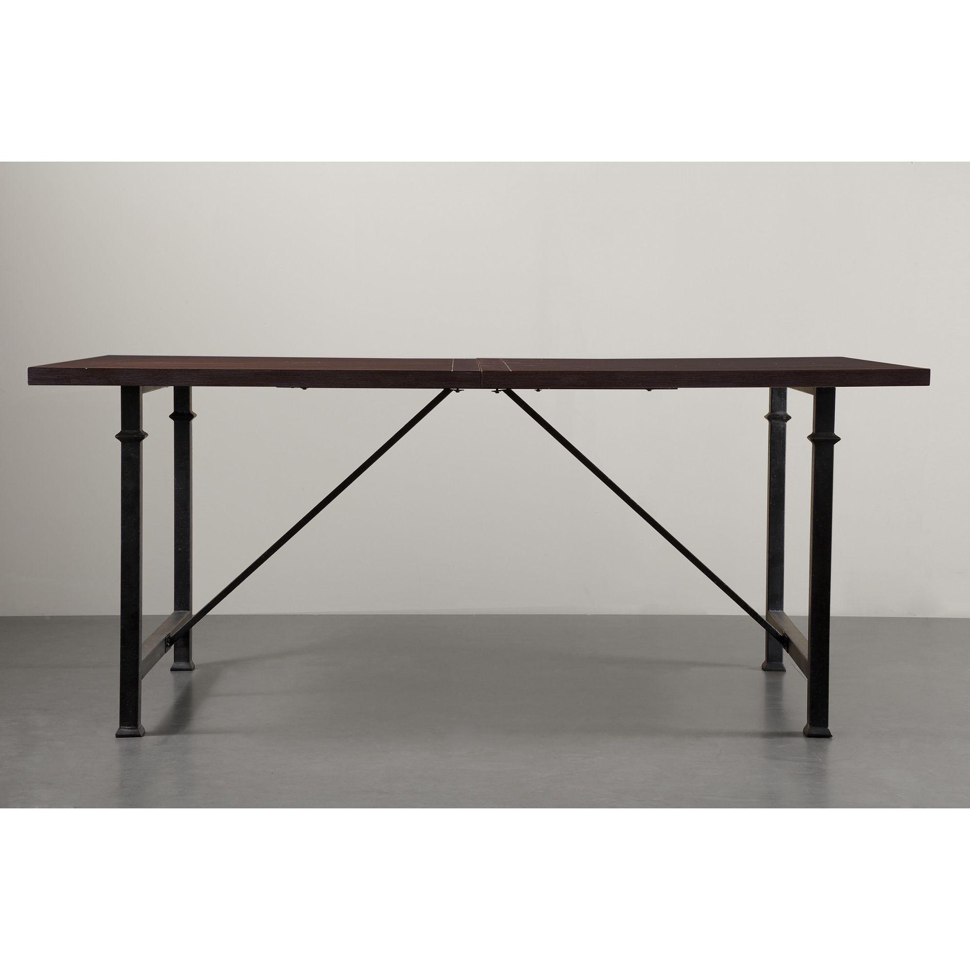 Wonderful Renate Coffee Metal/ Wood Dining Table