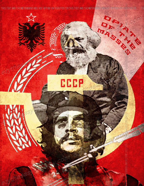 Karl Marx Ernesto Che Guevara falce e martello costruttivista Art ...