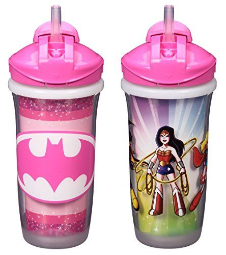 Playtex Sipsters Stage 3 Super Friends Straw Sippy Cups f...