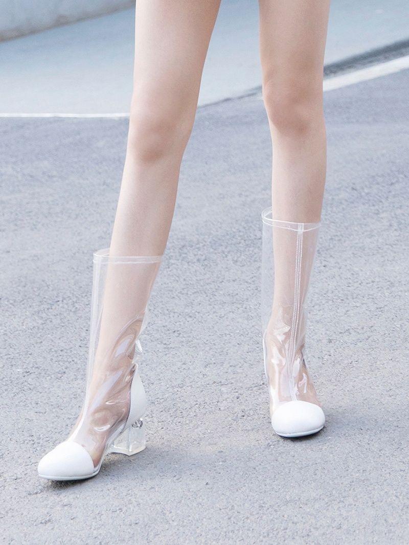 Elegant Shoe Girl   Crystal heels