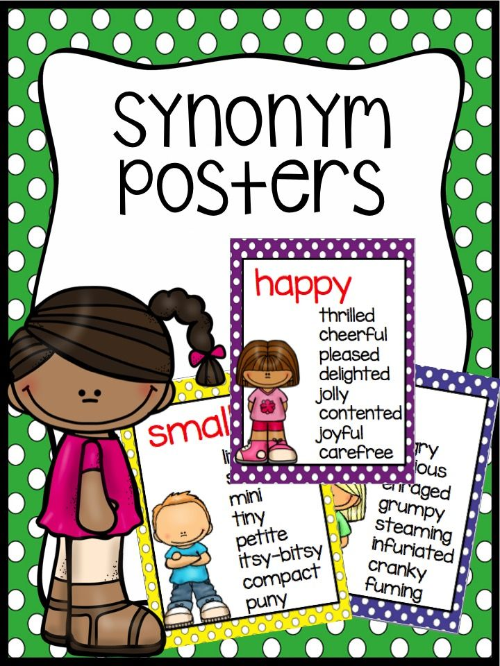 Synonym Posters | Synonym posters, Language vocabulary ...
