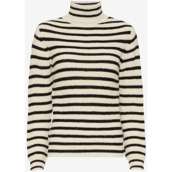 IRO Seely Striped Turtleneck ($268) ❤ liked on Polyvore