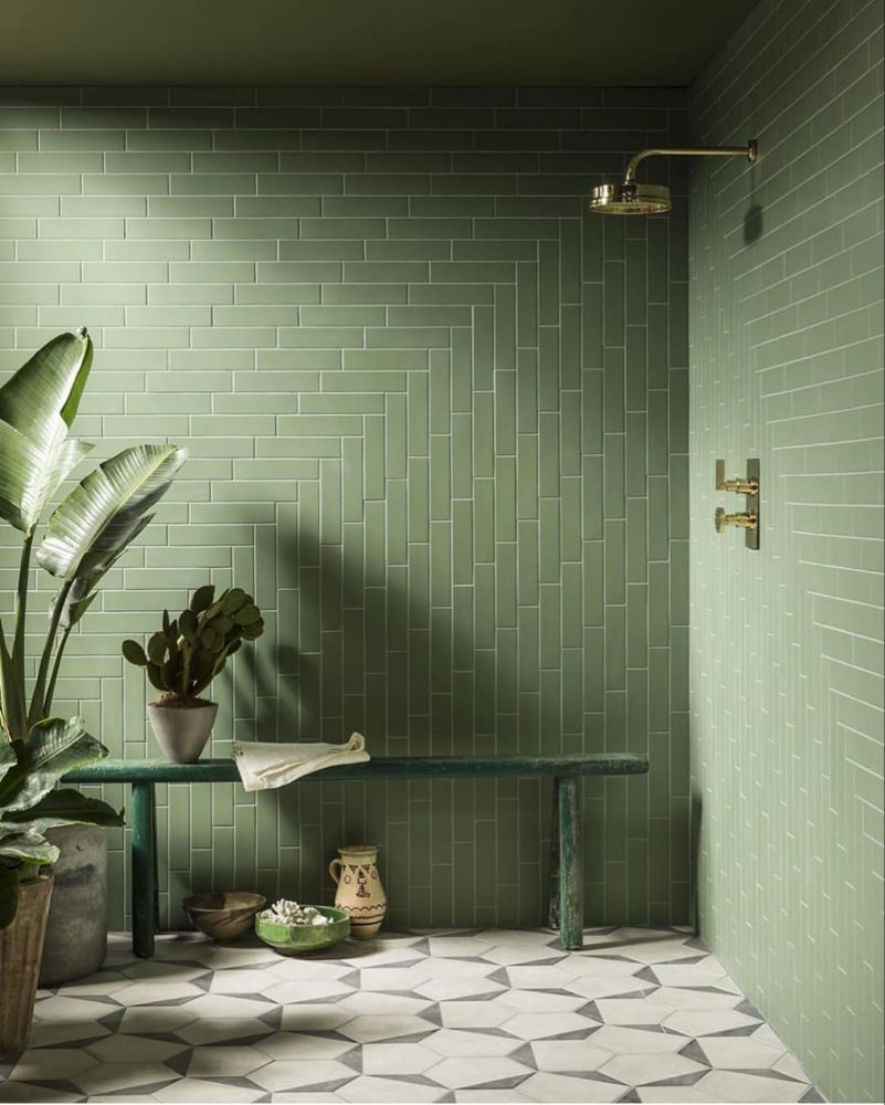 "Bathrooms of Instagram on Instagram ""🐢Green with envy"