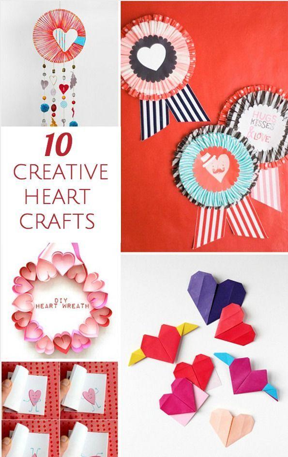 10 Playful Heart Crafts For Kids Valentine Crafts For Kids