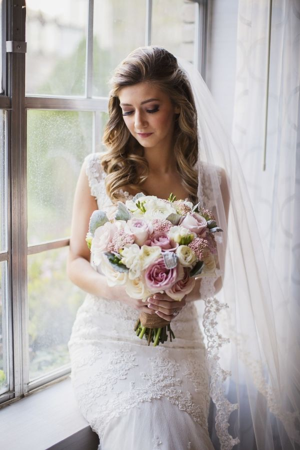Bride with Soft Pink Bouquet