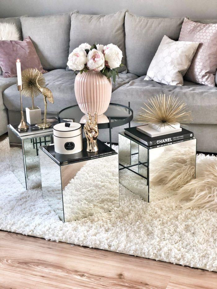 Ikea Hack DIY Spiegel ganz günstig nachmachen als Beistelltisch oder