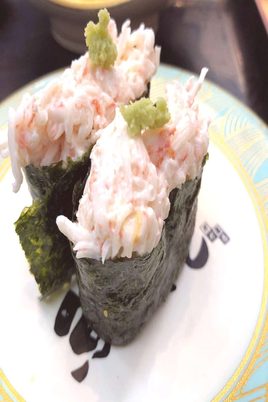 #food 実は結構好きです。 #鮨 #すし #寿司 #回転寿司 #You can find imitation crab salad and more on our website.実は結構好きです。 #鮨 #すし #寿司 #回転寿司 #