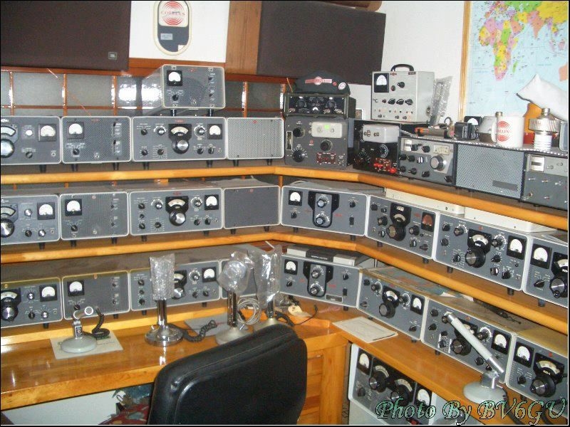 Vintage Collins Station. Maybe one day I can try out one of these great radios.