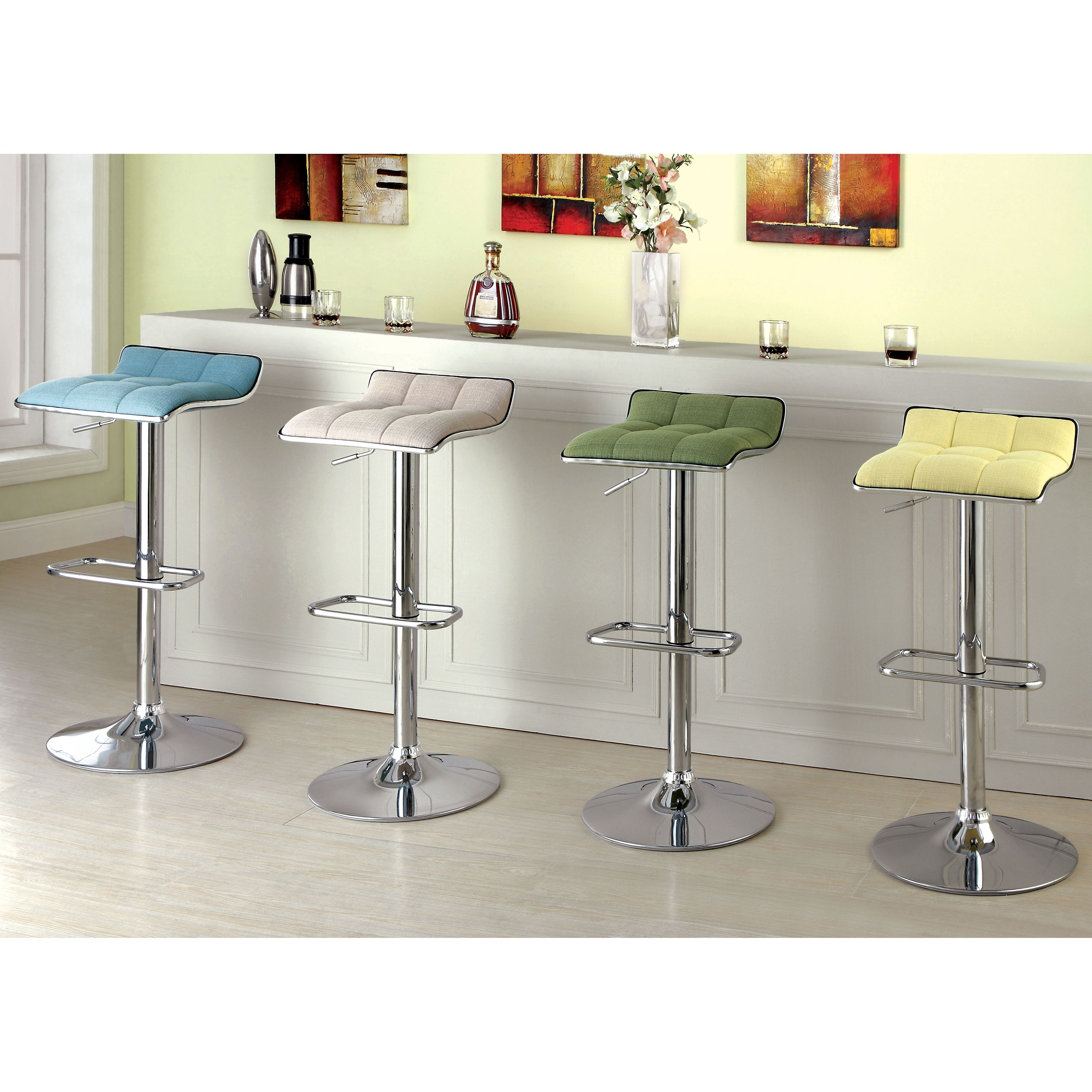 Furniture Of America Celia Modern Adjustable Swivel Bar Stool By Furniture  Of America Photo Gallery
